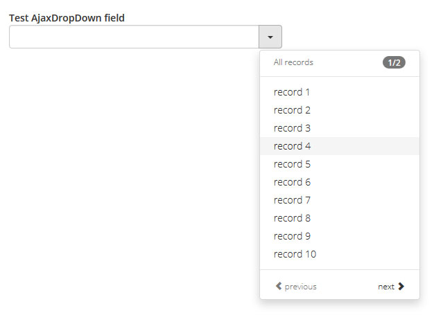 AjaxDropDown preview